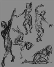 2 Minute Gesture Drawings